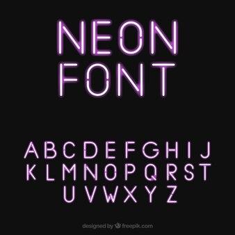 Pretty neon font