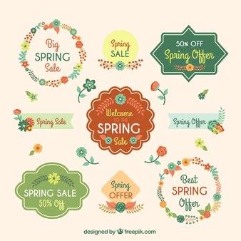 Pretty offer floral spring badges