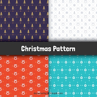Pretty patterns set of christmas