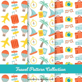 Pretty patterns with summer travel elements