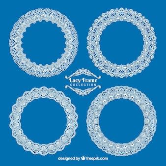 Pretty round lace frames