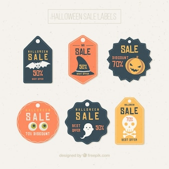 Pretty sale halloween labels in pastel tones