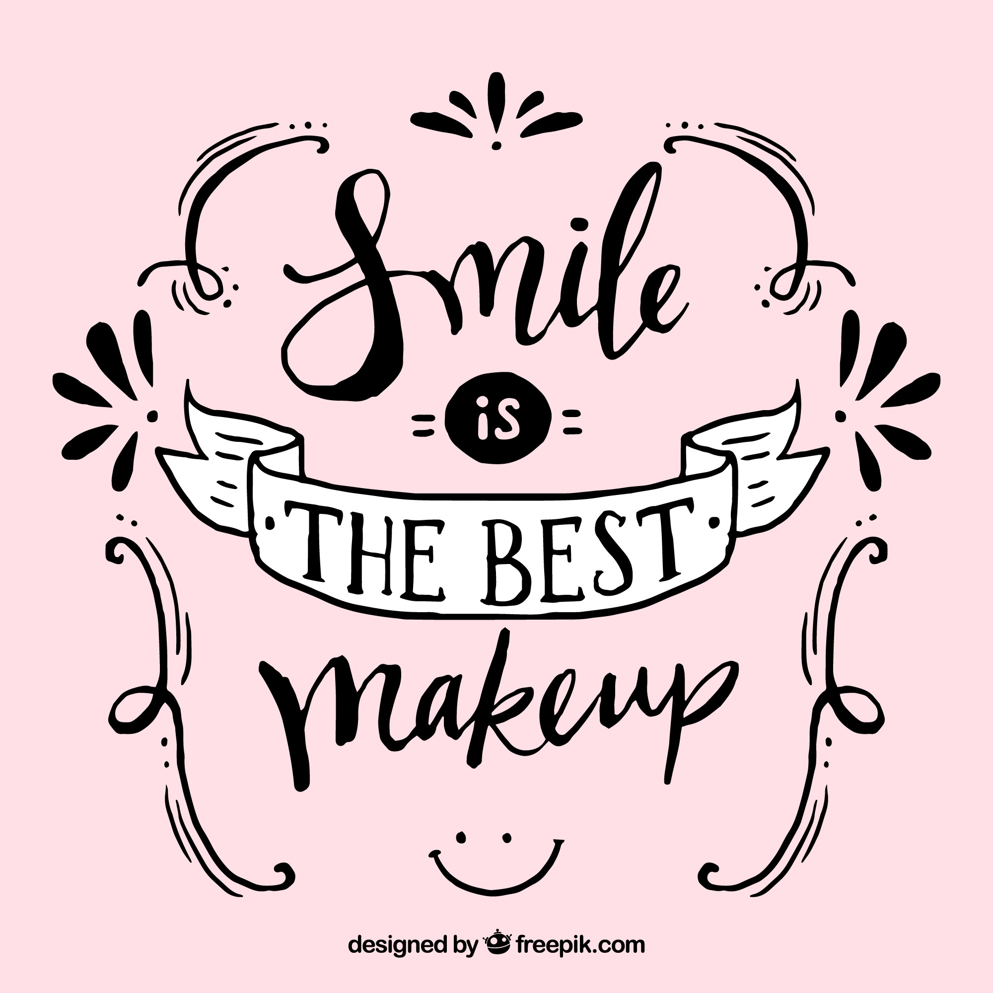 Pretty vintage lettering  smile is the best makeup