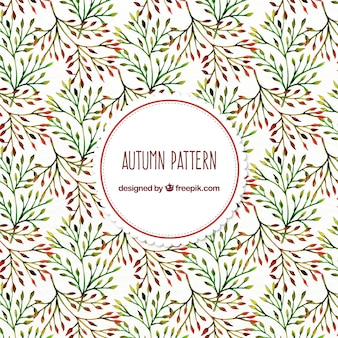 Pretty vintage watercolor pattern of branches
