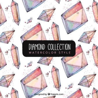 Pretty watercolor diamond pattern