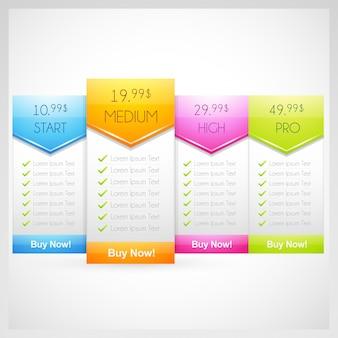 Price table design template