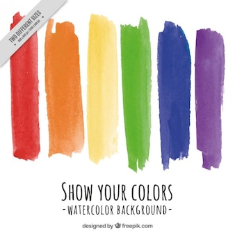Pride day background with watercolor brush strokes