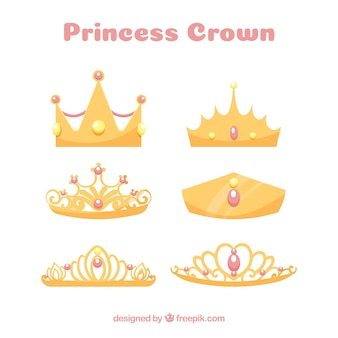 Princess crown collection with pink jewels