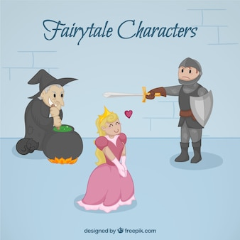 Princess in love with fairy tale character
