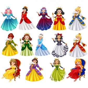 Princesses of fairy tales