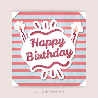 Printable CMYK birthday card