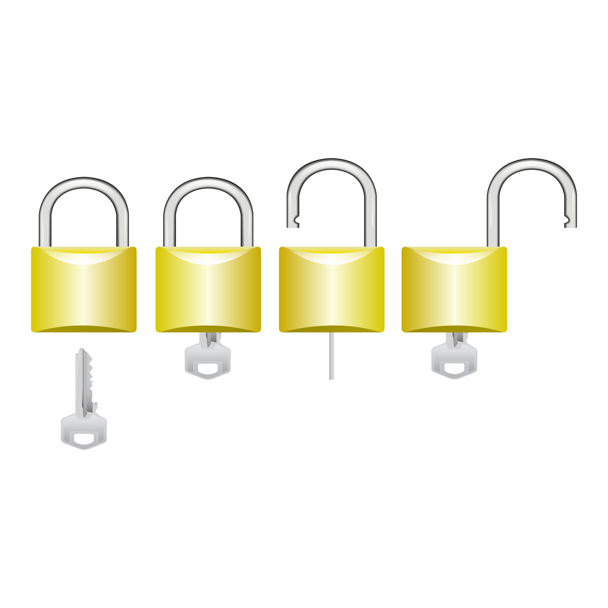 Process to open a lock