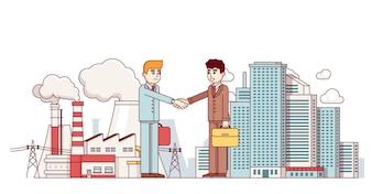 生産事業と都市のパートナーシップ