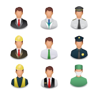 Profession icons collection