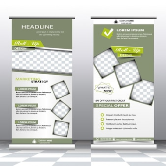 Professional advertising roll up banners