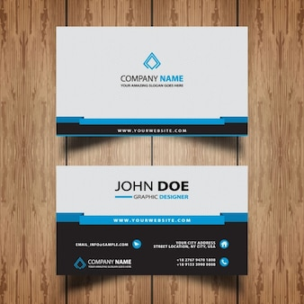 Professional blue business card
