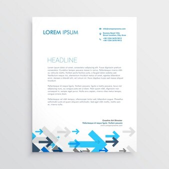 Professional brochure with arrows