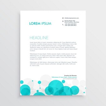 Professional brochure with blue circles
