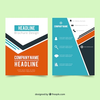 Professional brochure with modern style