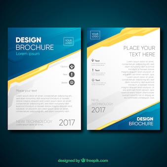 Professional brochure with original style