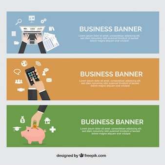 Professional business banners
