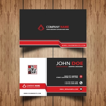 Professional business card in modern style
