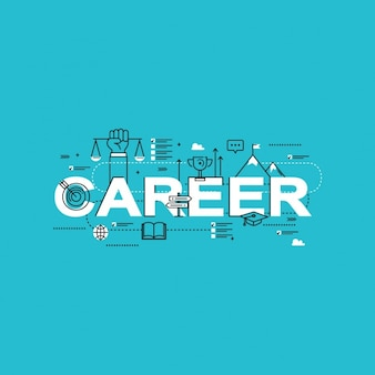 Professional career elements design