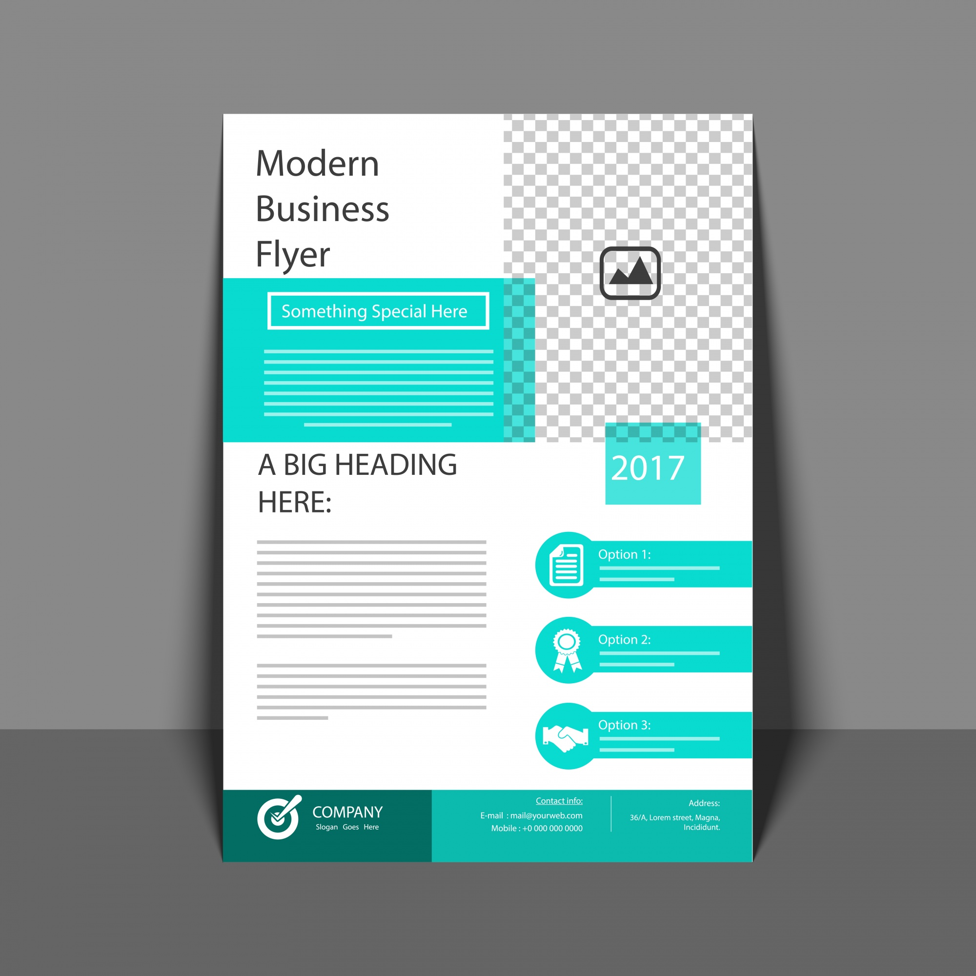 Professional Flyer in Green Color, Corporate Brochure, Annual Report and Cover Design template for your Business.