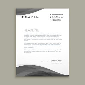 Professional grey letterhead