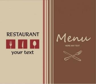 Professional look restaurant menu card