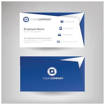 профессиональный шаблон визитной карточки
