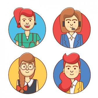 Professional women avatars