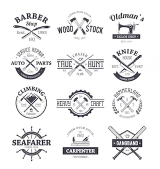 Professions logo templates collection