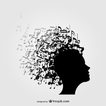 Profile music notes background
