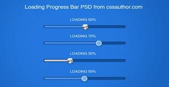 Progress and loading bars psd