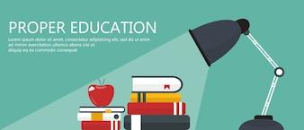 Proper education banner