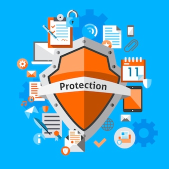 Protection background design