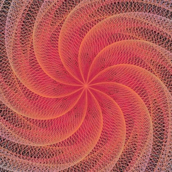 Psychedelic red background with a spiral