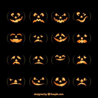 Pumpkin face collection