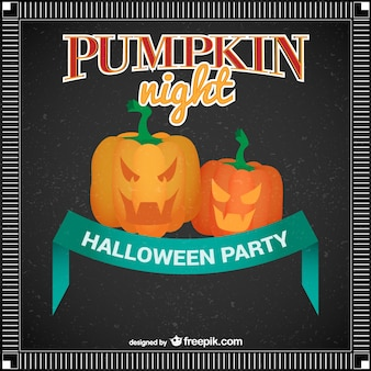 Pumpkin night Halloween party poster