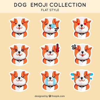 Puppy emoticon collection