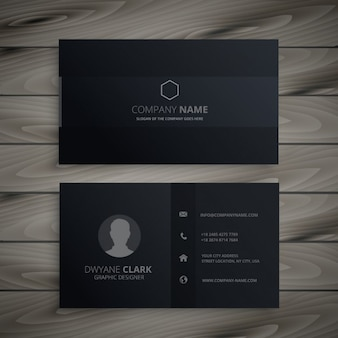 pure black dark business card