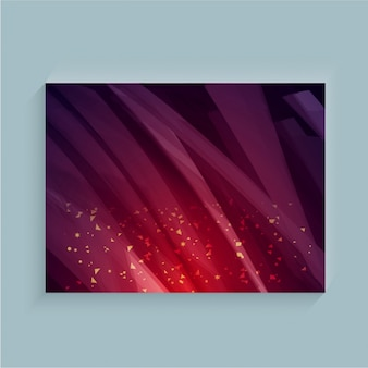 Purple abstract background with decorative brown forms