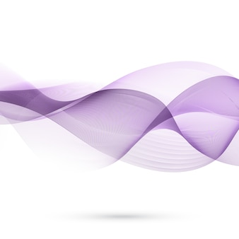Purple abstract background with floating wavy shapes