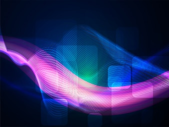Purple and blue waves on abstract background.
