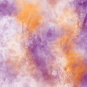 Purple and orange watercolor background design