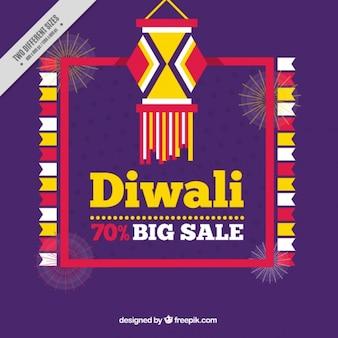 Purple background of diwali sales