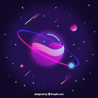 Purple background of galaxy
