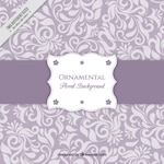 Purple background with floral ornaments