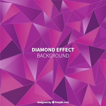 大きなダイヤモンドの効果とパープルの背景